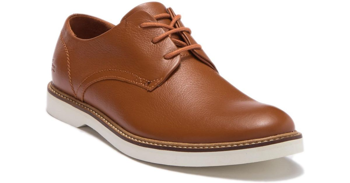 62365738c30d Lyst - Lacoste Sherbrooke 318 Leather Derby in Brown for Men