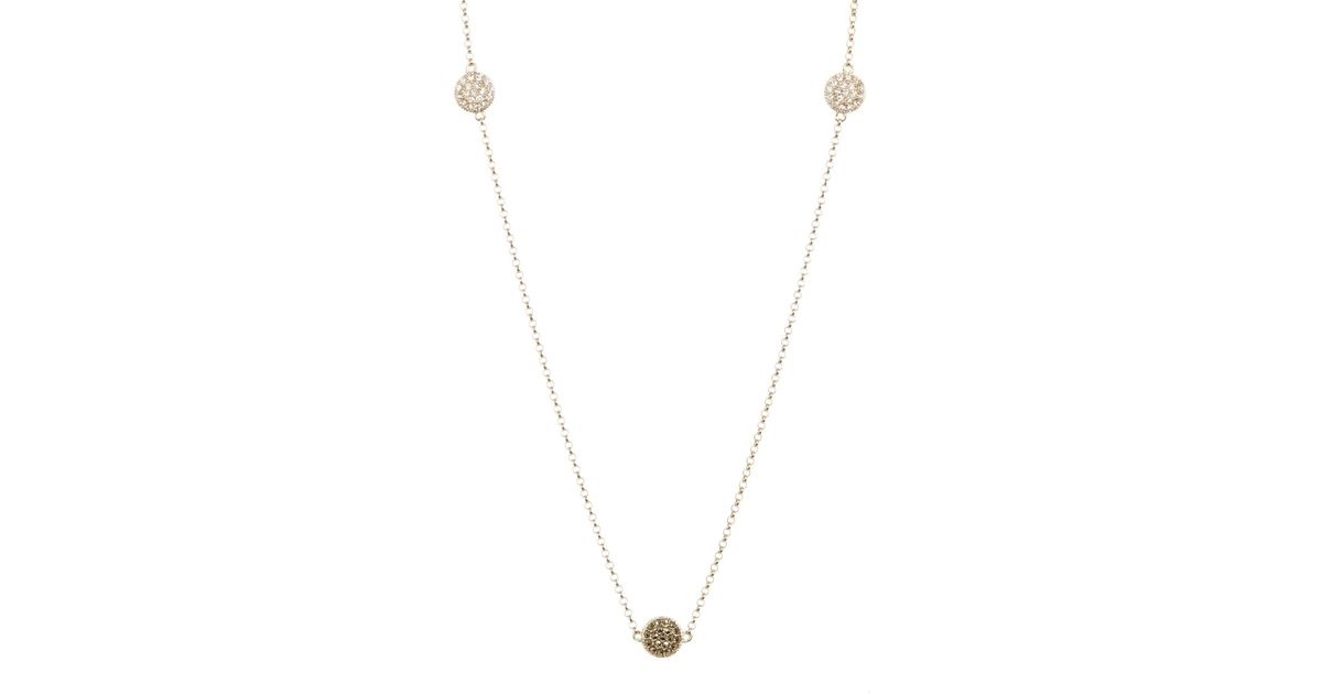 40fbd2228 Judith Jack 10k Yellow Gold Plated Sterling Silver Swarovski Marcasite &  Crystal Pave Station Necklace in Metallic - Lyst