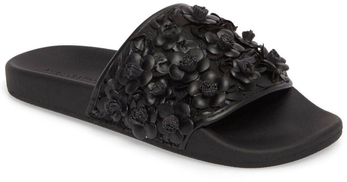 SandalwomenLyst Filles Avec Black Les Stella Slide TFJuKc1l35