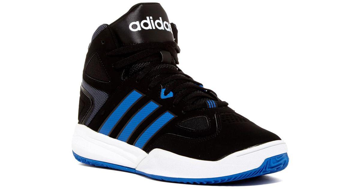 lyst adidas originali cloudfoam thunder metà scarpa blu per gli uomini.