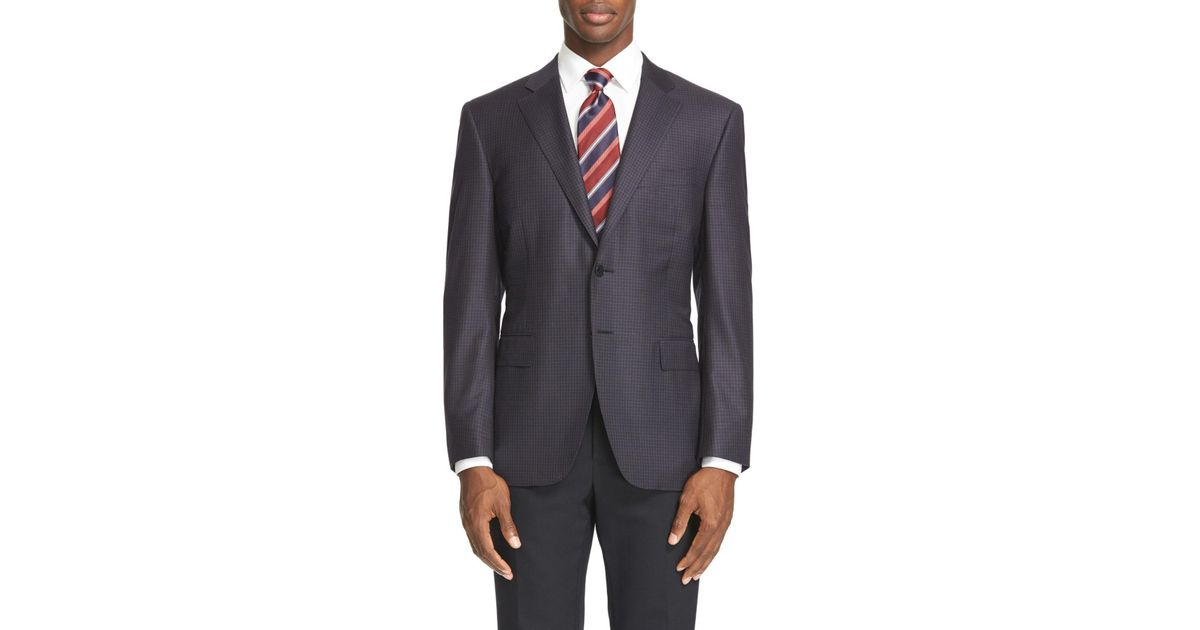 1cb55008599 Lyst - Canali Classic Fit Check Wool Sport Coat in Blue for Men