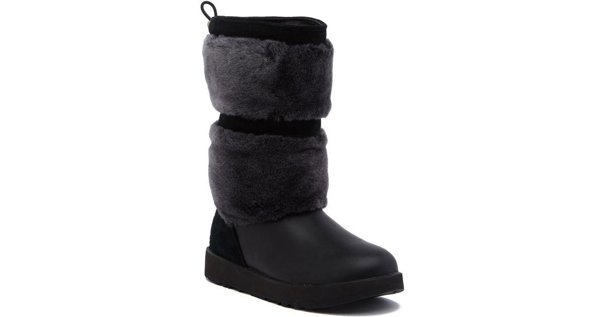 9942a6ad8f2 Lyst - UGG Reykir Waterproof Genuine Shearling Boot in Black