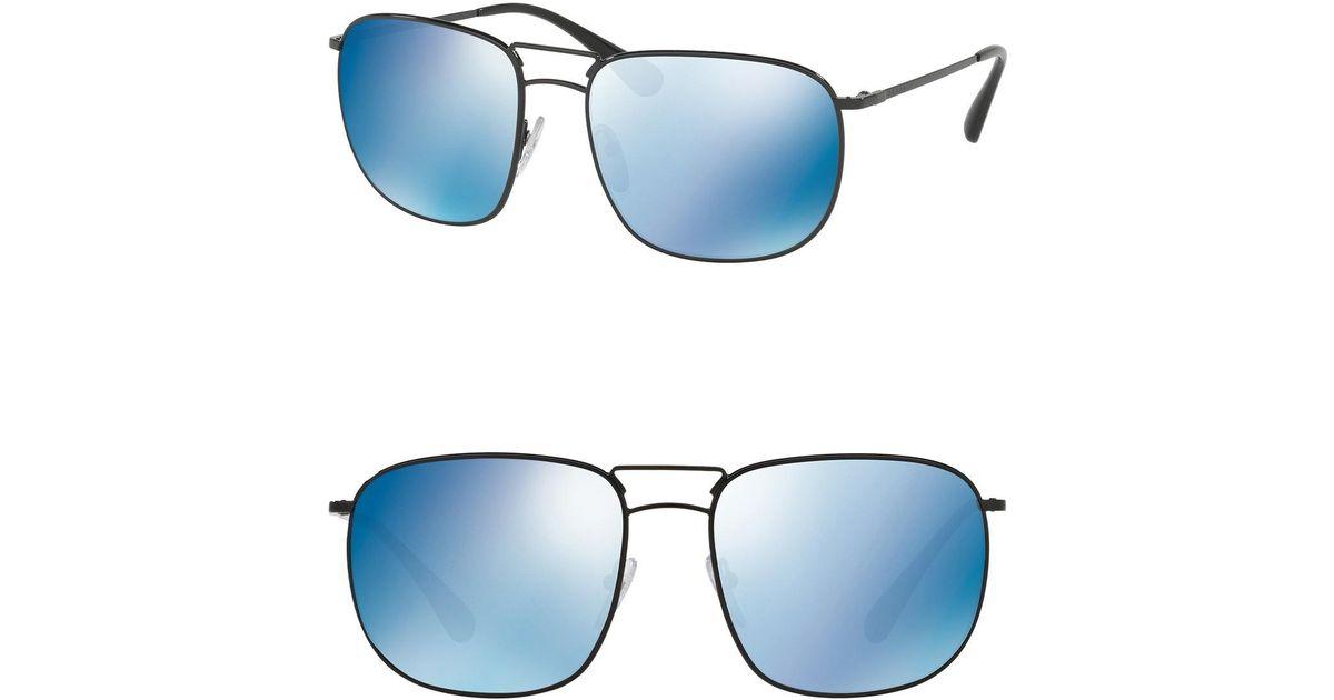 8695a7d43e59 Lyst - Prada Pillow Conceptual 60mm Navigator Sunglasses in Black for Men
