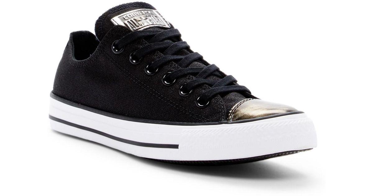 Converse Chuck Taylor(r) All Star(r) Brush Off Metallic Cap Toe Sneaker  (women) in Black - Lyst fccaf77460d