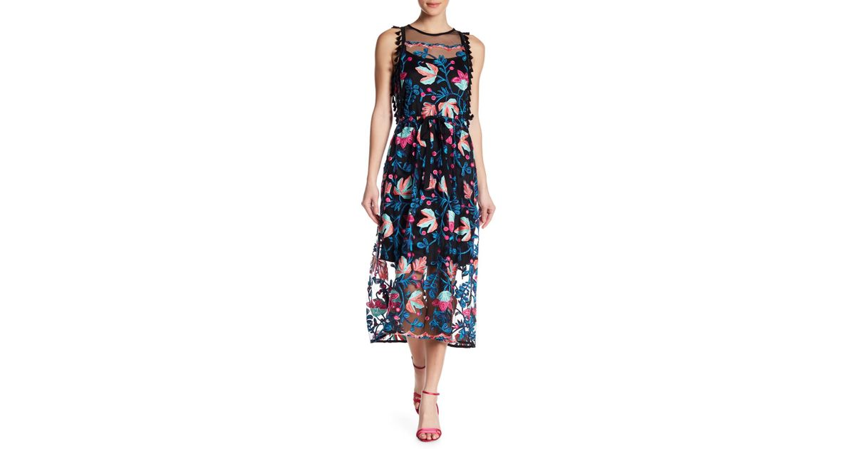 b0650d6a340 Eva Franco Sage Embroidered Dress in Blue - Lyst