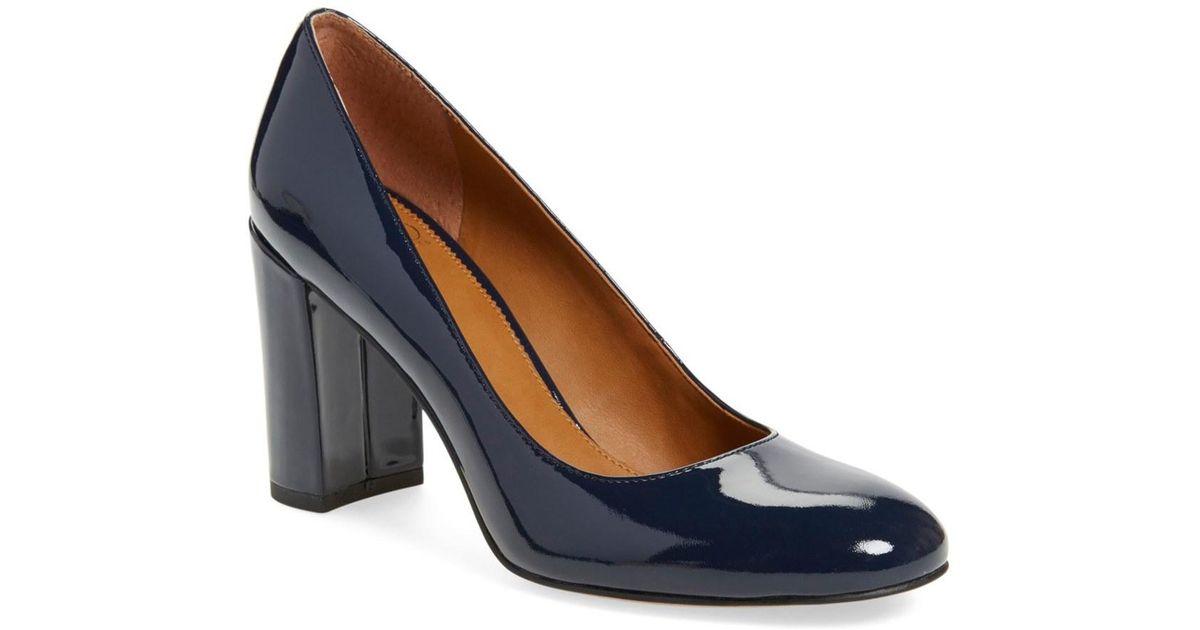7c51da5a51c Lyst franco sarto aziza block heel pump women in blue jpeg 1200x630 Aziza  block