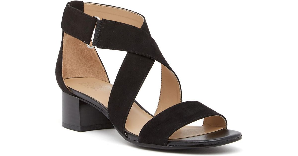 705477a345a Lyst - Naturalizer Adele Block Heel Sandal - Wide Width Available in Black