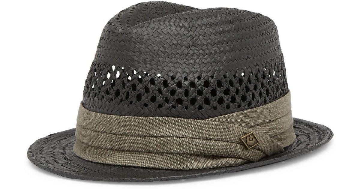 Lyst - Goorin Bros Blurr Fedora Hat in Black for Men 6afb8baa9189