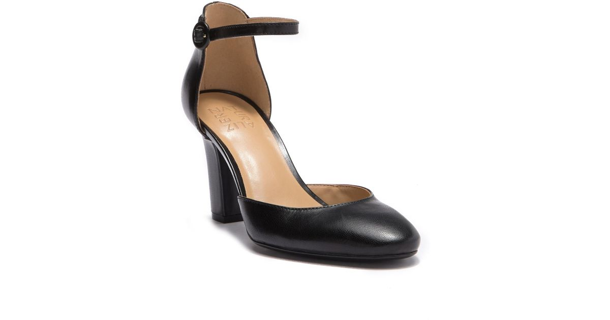 6feae2017b3 Lyst - Naturalizer Gianna Leather D orsay Ankle Strap Pump - Wide Width  Available in Black