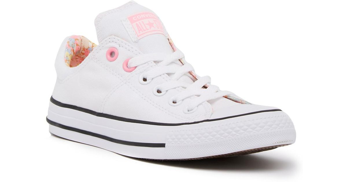08bc53b6aeef Lyst - Converse Chuck Taylor All Star Madison Oxford Sneaker (women) in  White