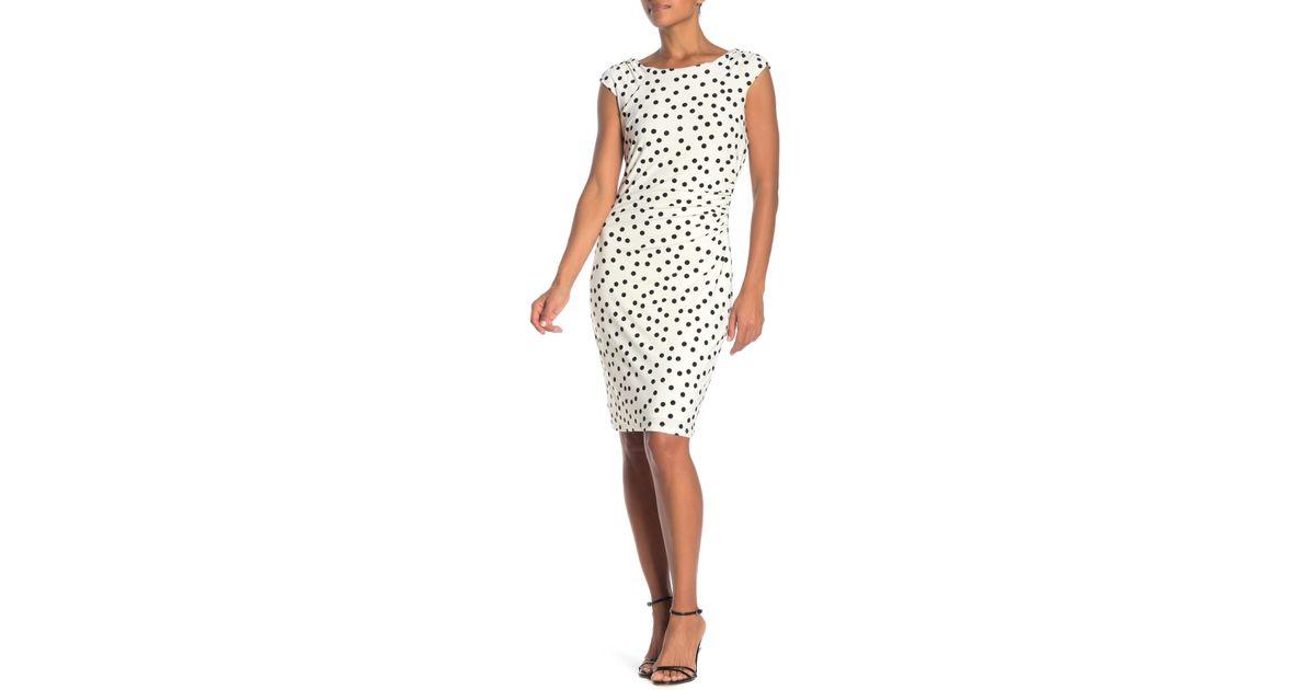 873f774b Catherine Malandrino Cap Sleeve Shirred Side Dress in White - Lyst