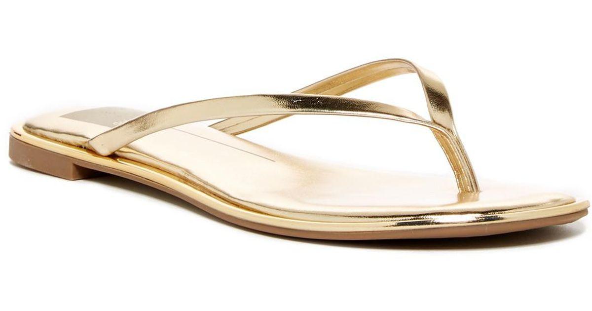 065d2a9fb86 Lyst - Dolce Vita Dawn Thong Sandal in Metallic