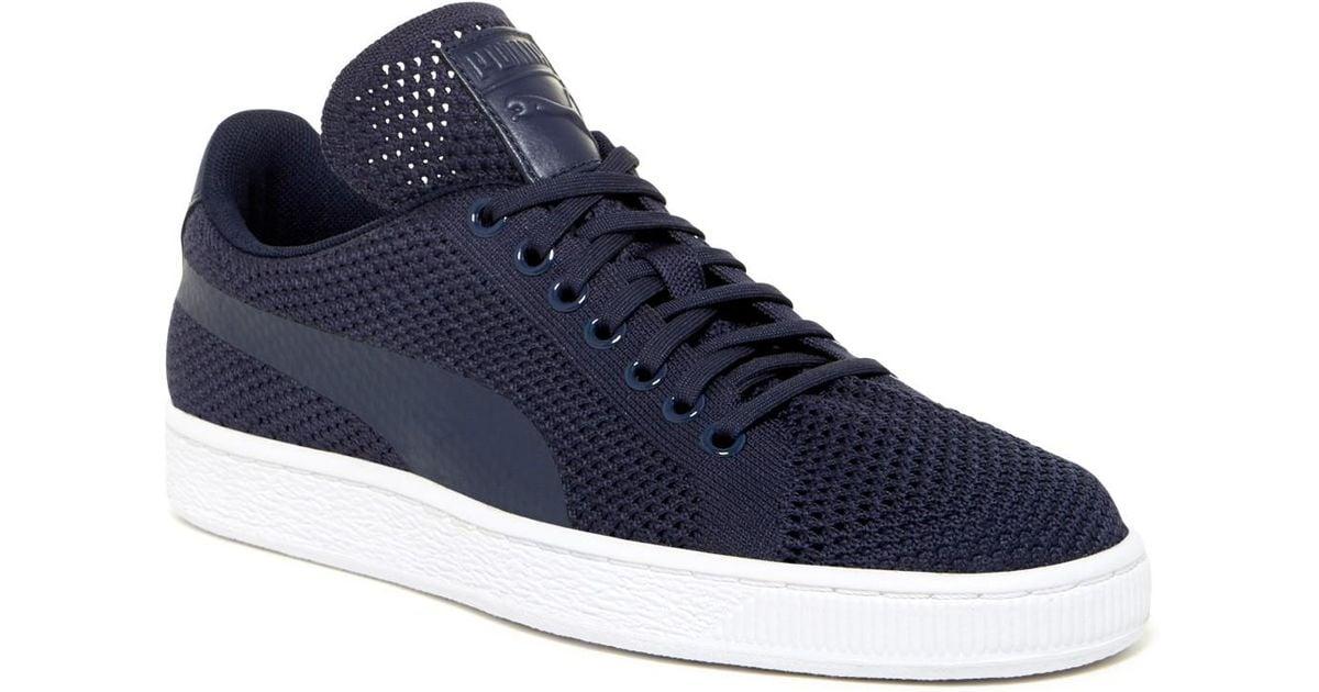 Lyst Puma Basket Classic Evoknit Sneaker in Blau for for Blau Men 853809