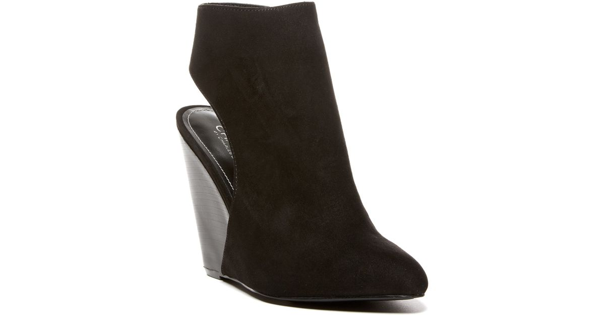 c77a683fc8db Lyst - Charles By Charles David India Wedge Bootie in Black