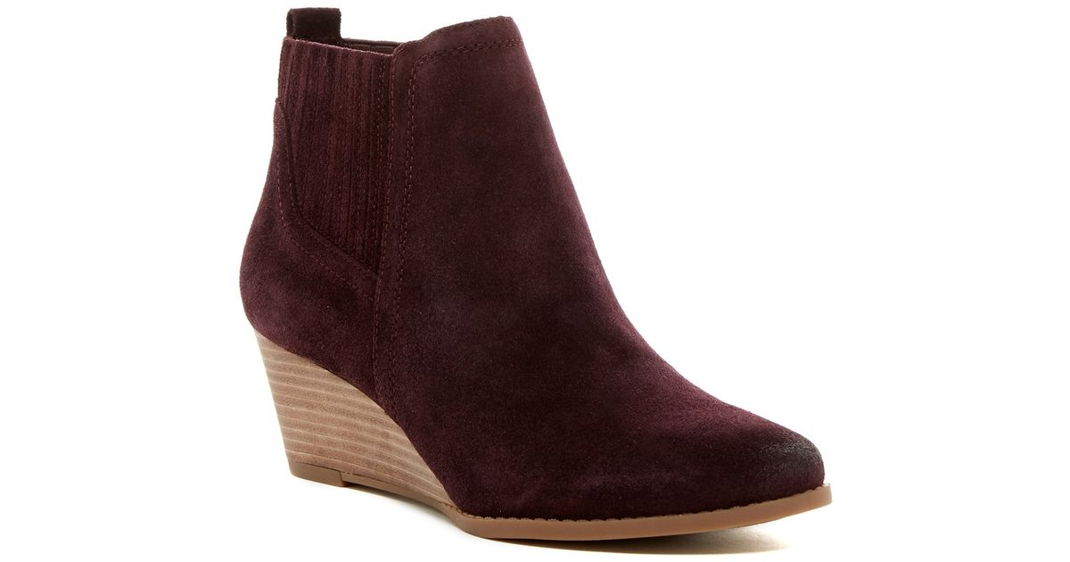 0734a2797a6 Lyst - Franco Sarto Wayra Wedge Bootie - Wide Width Available