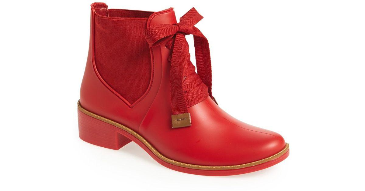 Bernardo 'lacey' Short Waterproof Rain Boot (women) in Red ...