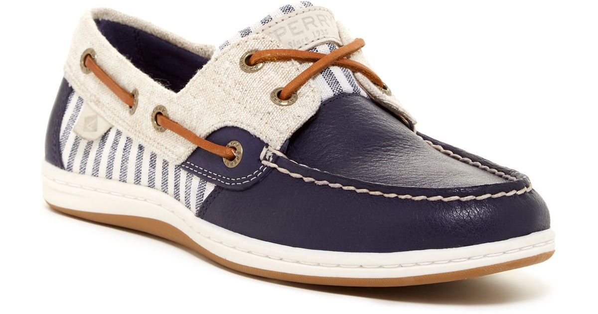 Lyst sperry top sider koifish boat shoe in blue for Best boat shoes for fishing