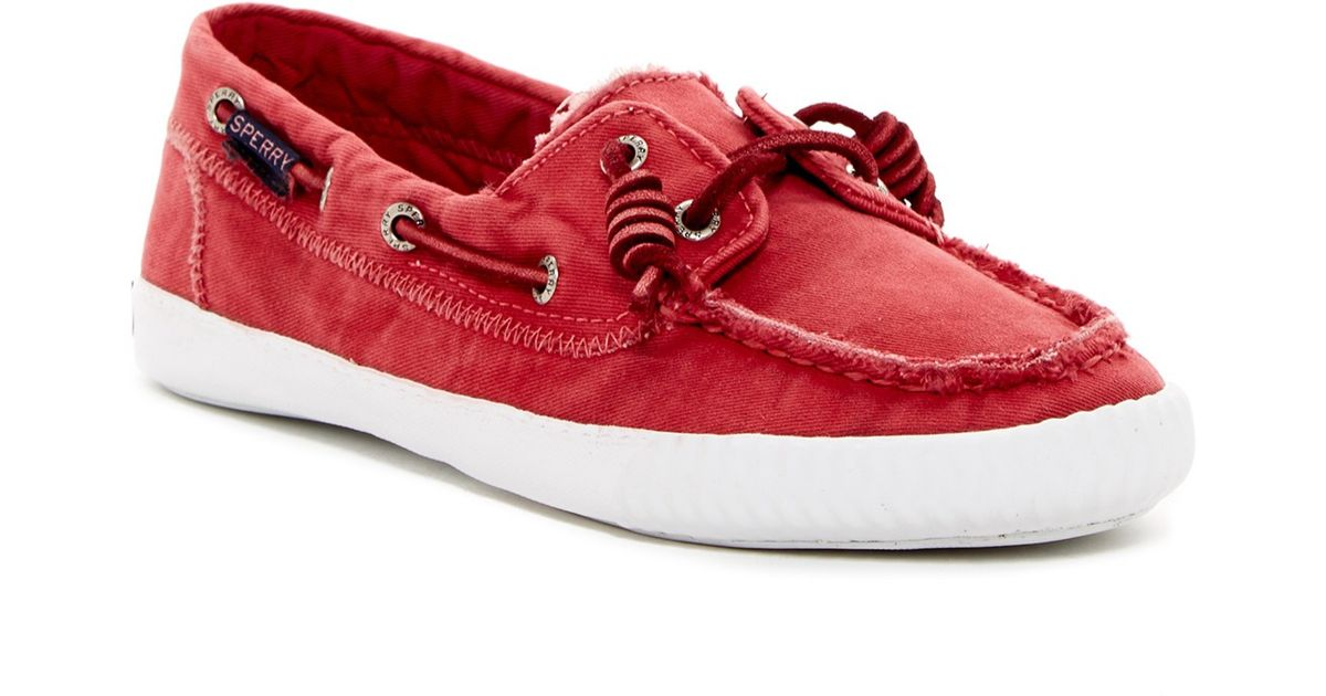 Sperry Top Sider Sayel Away Washed Sneaker In Red Lyst