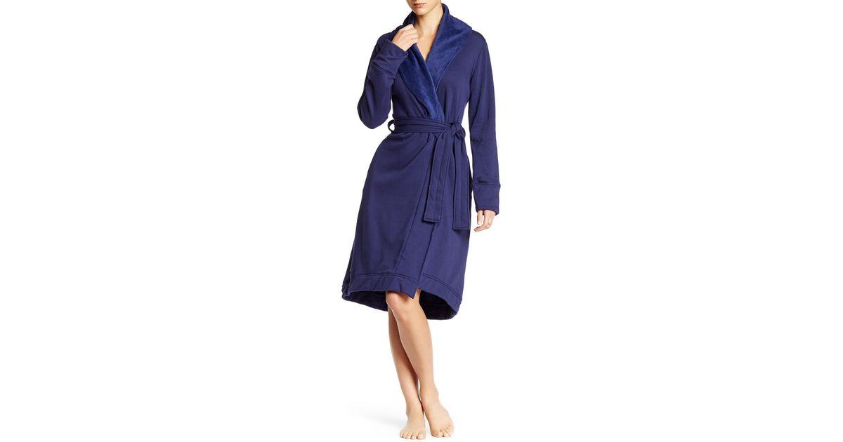 Lyst - UGG Allinda Fleece Lined Robe in Purple e8f2715ed