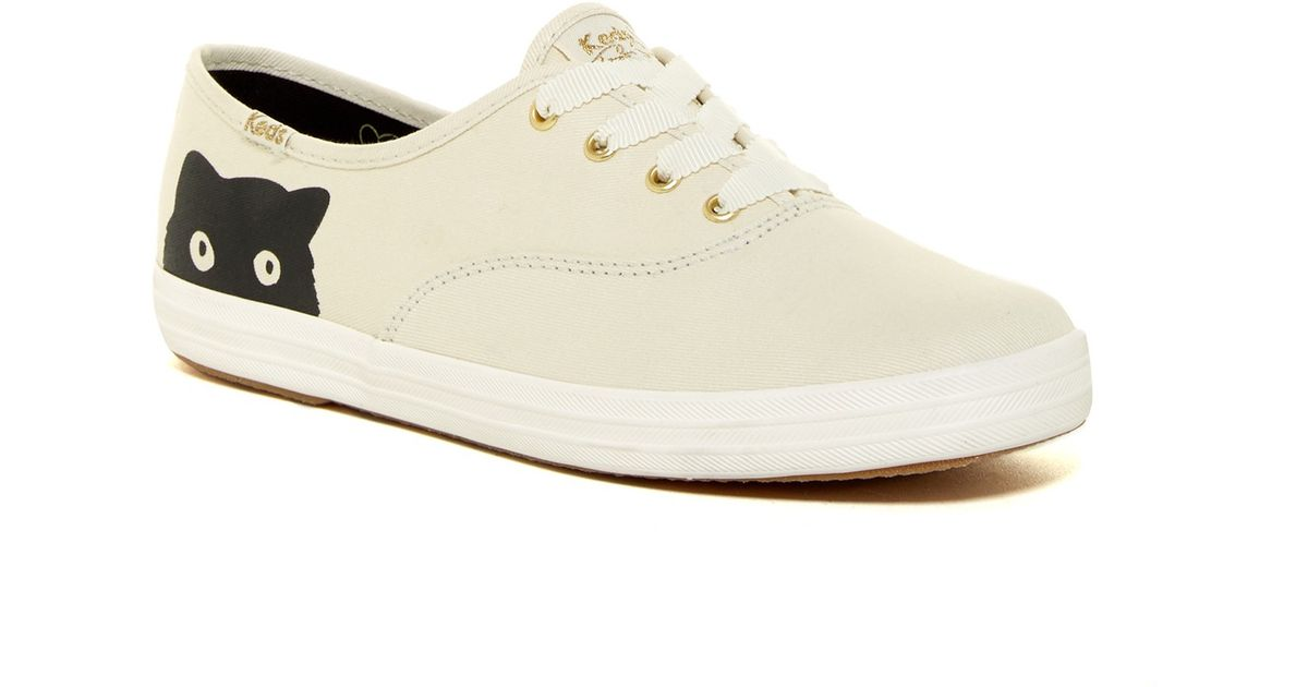 a3cf372763e Lyst - Keds Taylor Swift Champion Sneaky Cat Sneaker in Natural