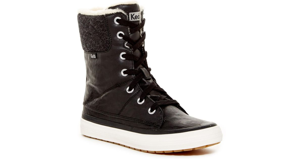 702519f4bc0 Lyst - Keds Juliet Faux Fur Lined Boot in Black