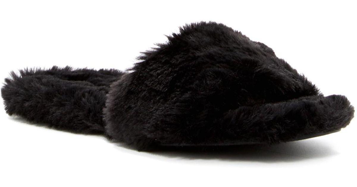 9f3d80430b2 Lyst - ALDO Fofa Faux Fur Slide Slipper in Black