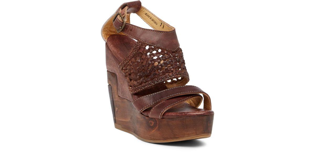 2c8f89ff5266 Lyst - Bed Stu Petra Wedge Sandal in Brown
