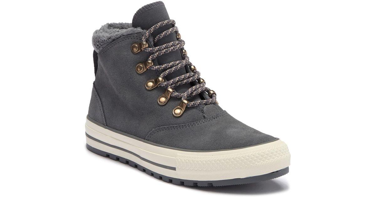 291087da562 Lyst - Converse Chuck Taylor All Star Ember Faux Fur Lined Boot (women)