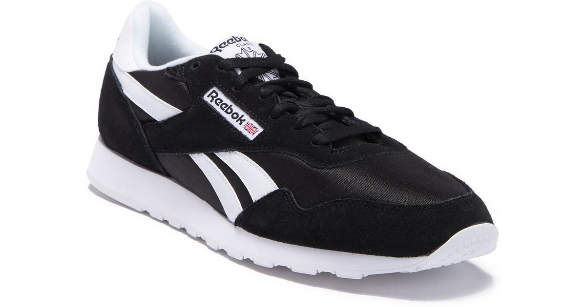 b71c73e6dba9 Lyst - Reebok Royal Nylon Sneaker in Black for Men