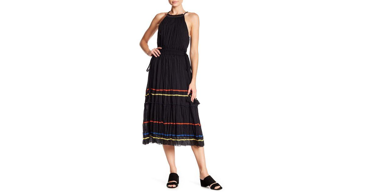 36221945f9 Lyst - Joie Danit Pleated Midi Dress in Black