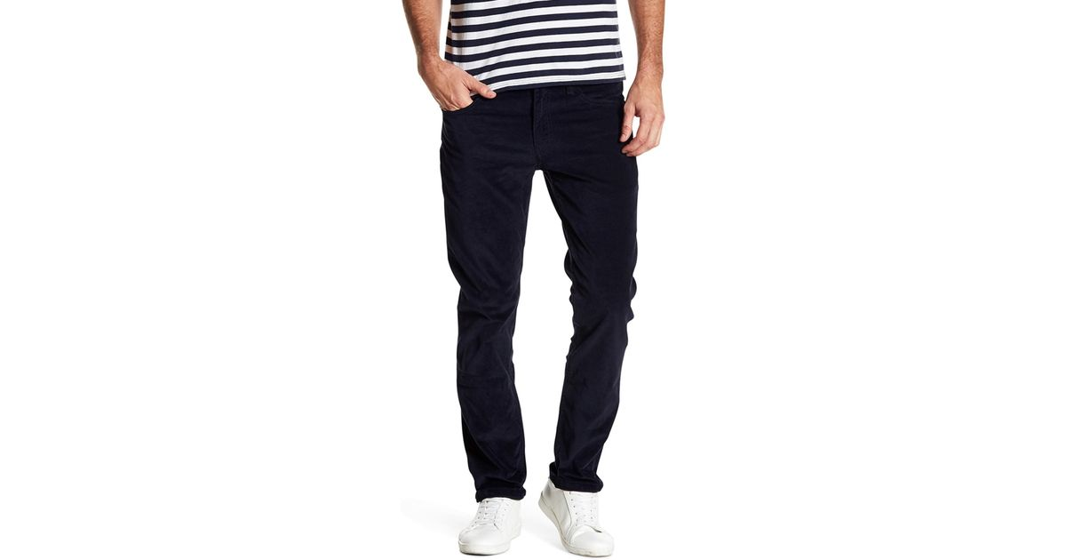 4bb27477ebb0 Lyst - Levi s 511 Slim Fit Nightwatch Blue Twill Corduroy Pants in Blue for  Men