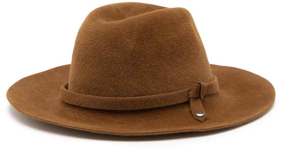 89b92e1aabf35 Helen Kaminski Jessa Rollable   Packable Genuine Rabbit Fur Safari Hat in  Brown - Lyst