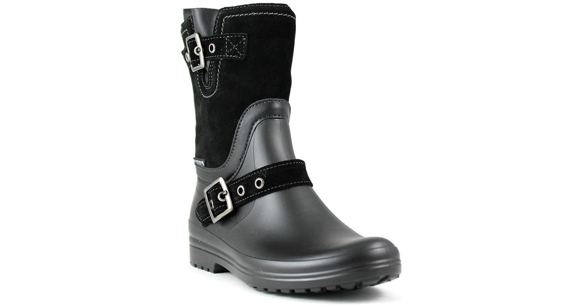 3187cc718 Santana Canada - Black Cayley Waterproof Mixed Media Rain Boot - Lyst
