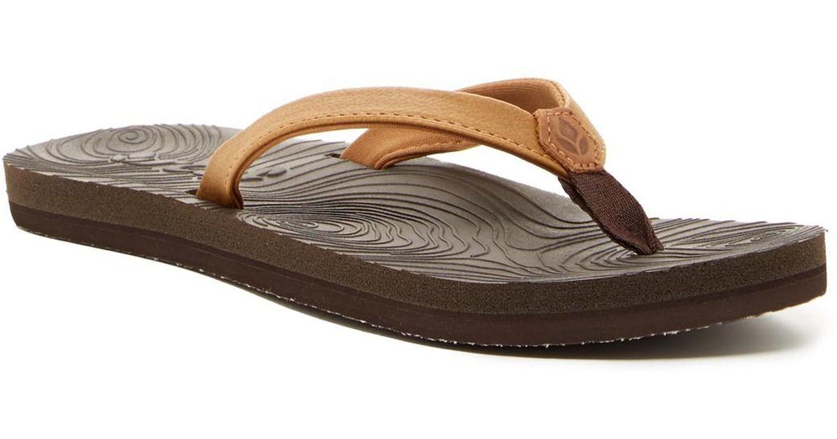 74ee969cfe954 Lyst - Reef Zen Love Flip-flop in Brown
