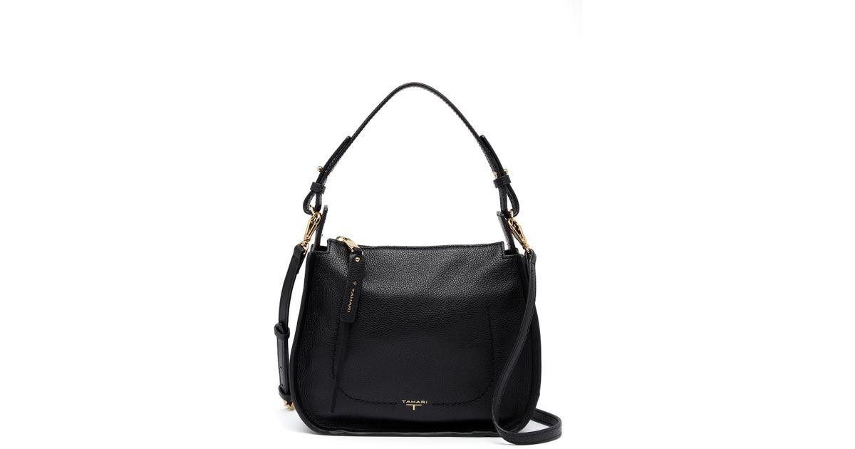 f14cf5d9d T Tahari Blake Small Leather Hobo Bag in Black - Lyst