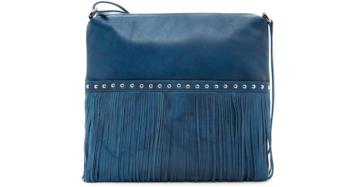 a6b0f8aed3 Lyst - Ili Fringe Leather Crossbody in Blue