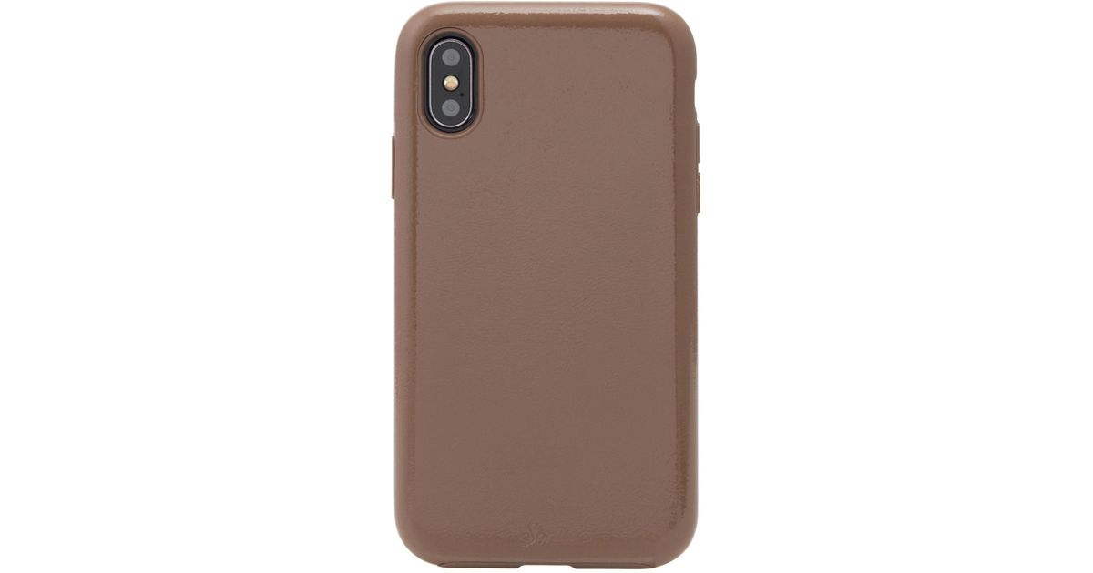 buy popular e543c 2ee61 Sonix - Brown Black Patent Faux Leather Iphone X/xs Case - Lyst