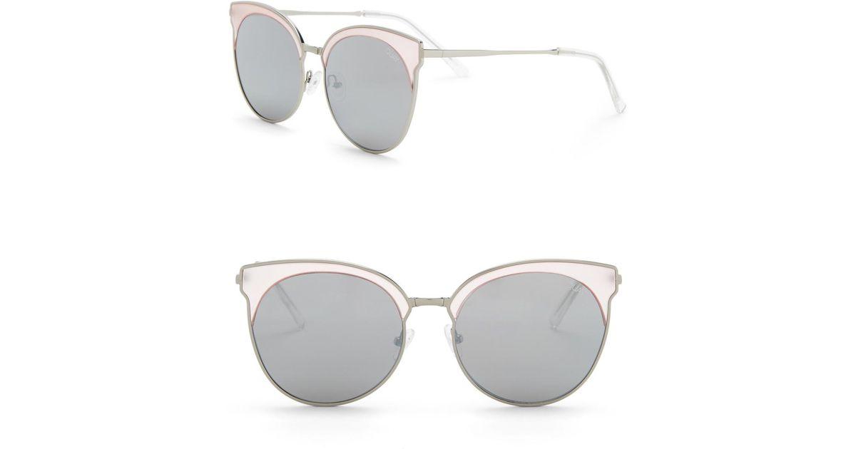 8d4cb43460 Lyst - Quay Mia Bella 57mm Clubmaster Sunglasses in Metallic