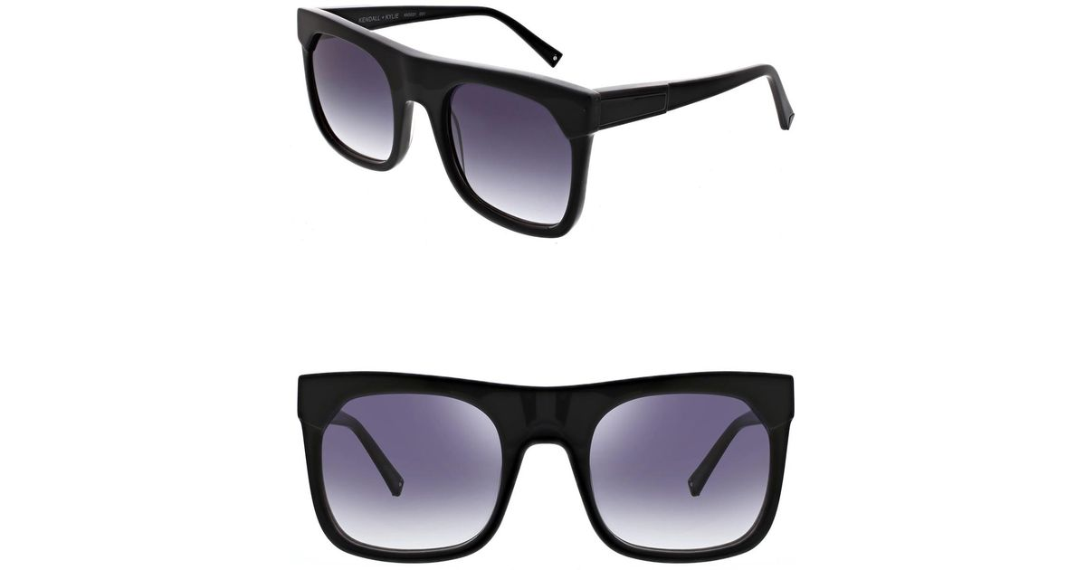 a56851b90191e Lyst - Kendall + Kylie Women s Roxanne Oversized Square Sunglasses in Black