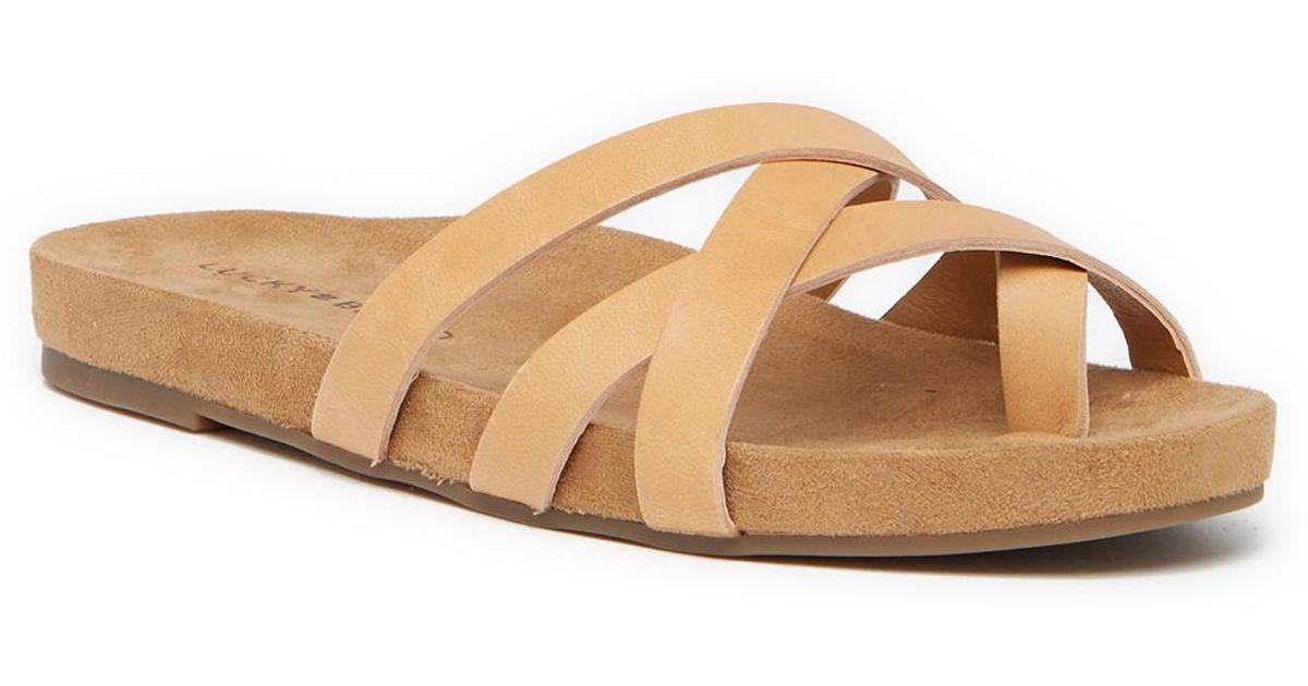 Lucky Brand Fernoah Strappy Loop Toe Sandal 7C7hLk
