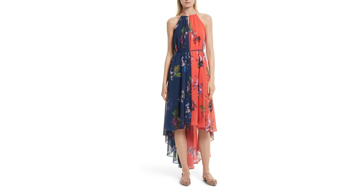825f4c378737 Ted Baker Hanie High/low Maxi Dress in Blue - Lyst
