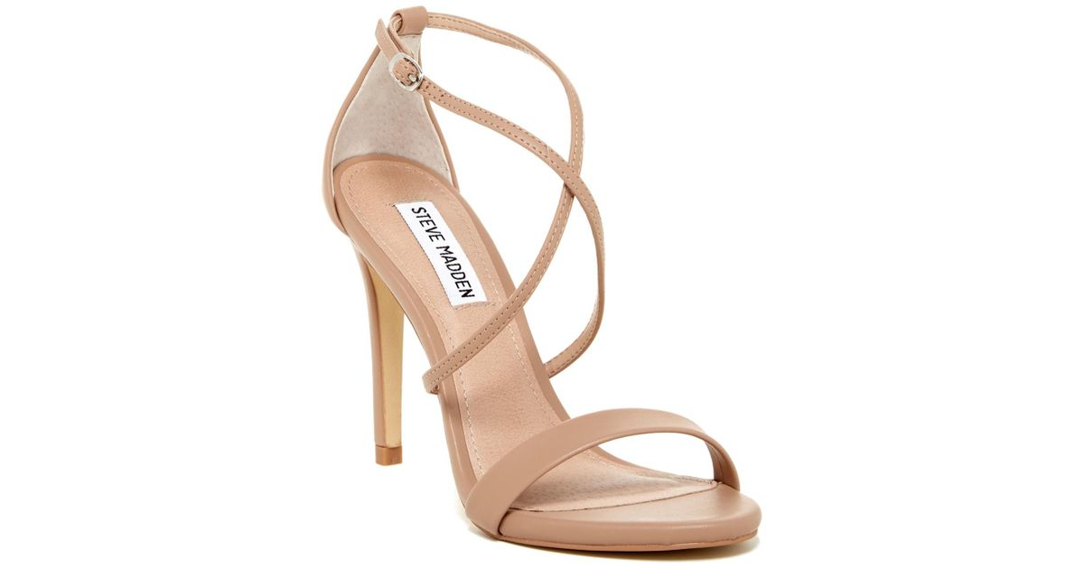 33596a21caf Lyst - Steve Madden Floriaa Heel Sandal in Natural
