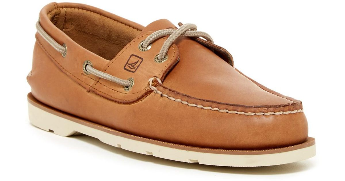 14484dcb894 Lyst - Sperry Top-Sider Leeward 2-eye Leather Boat Shoe - Wide Width  Available in Brown for Men