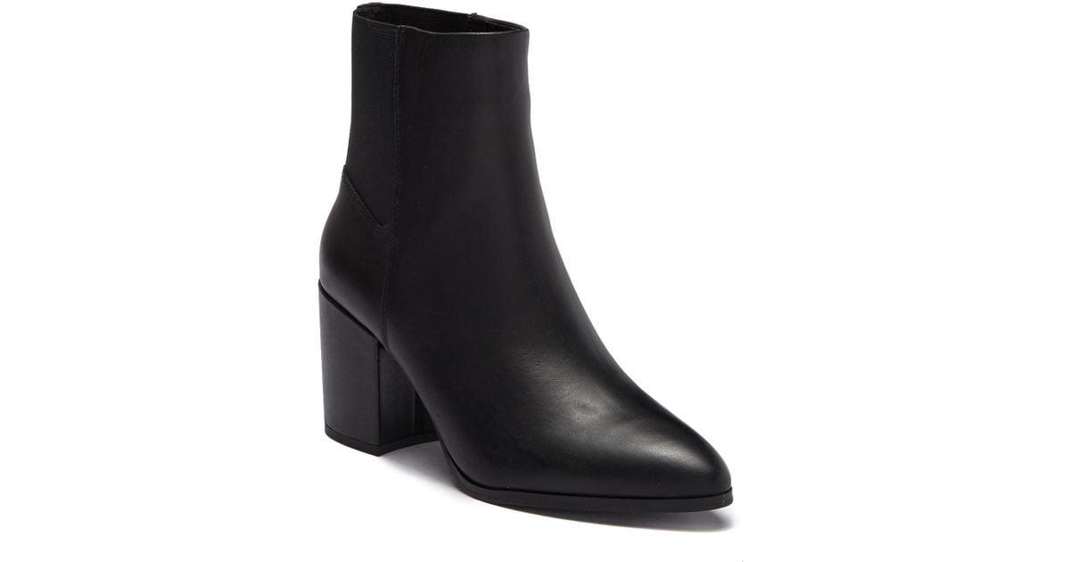8dcb66005aa Lyst - Steve Madden Jeez Leather Block Heel Boot in Black