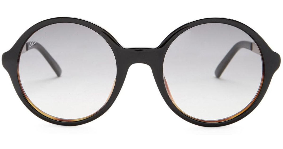 978bb12c60a Lyst - Gucci Women s Round Acetate Frame Sunglasses