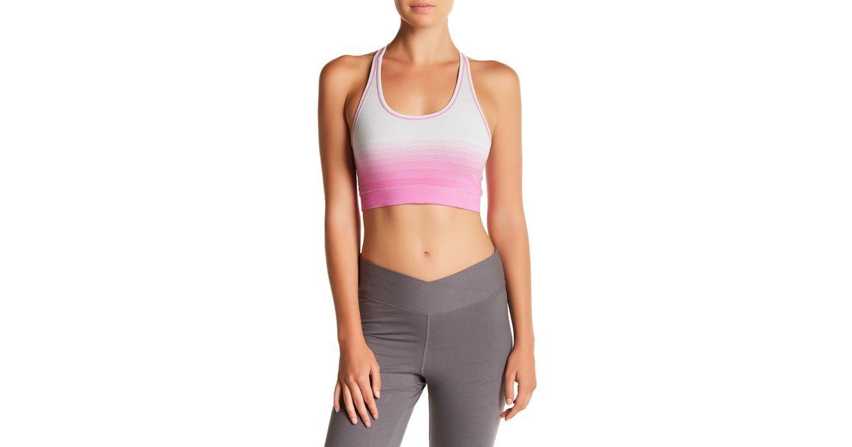 53c3aa3b90603 Lyst - Yummie By Heather Thomson Helen Reversible Sports Bra in Purple