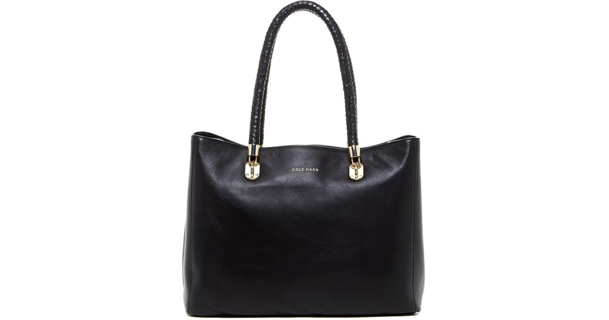 affcf1b24e5 Lyst - Cole Haan Benson Large Leather Tote in Black