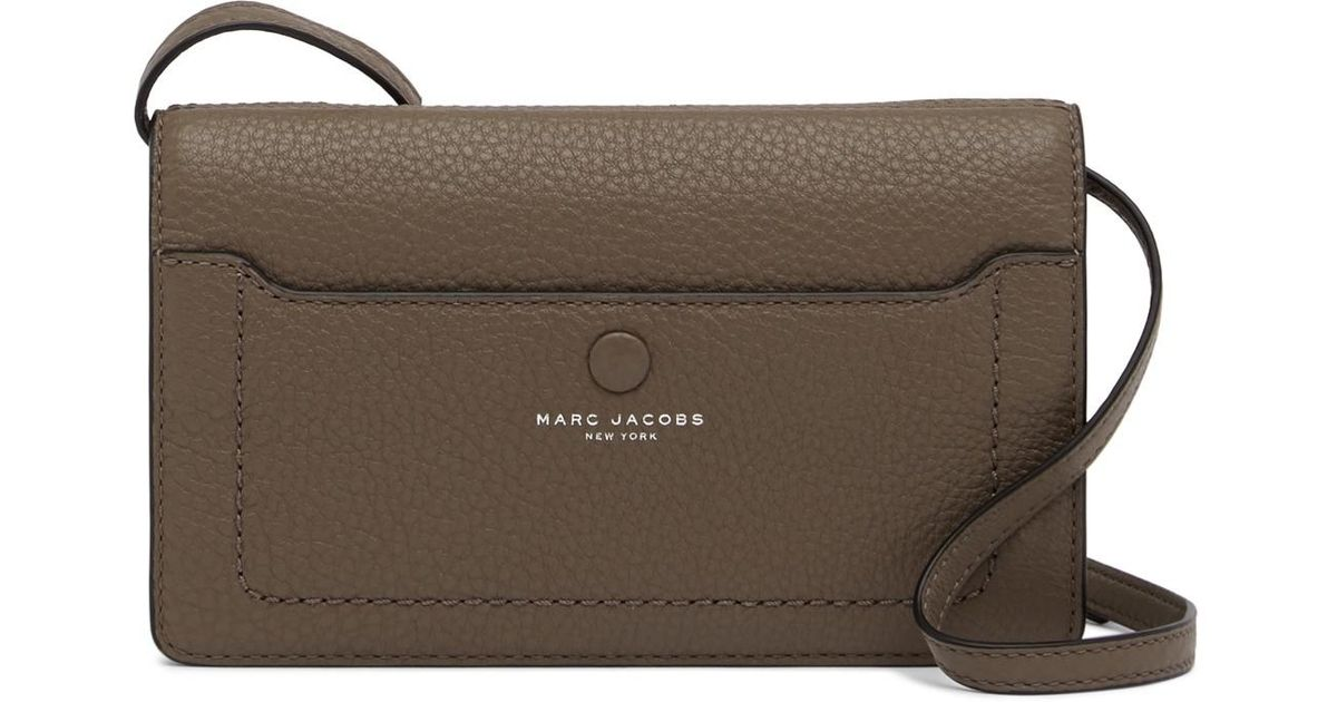 15c256950693 Marc Jacobs Empire City Str Leather Wallet in Gray - Lyst