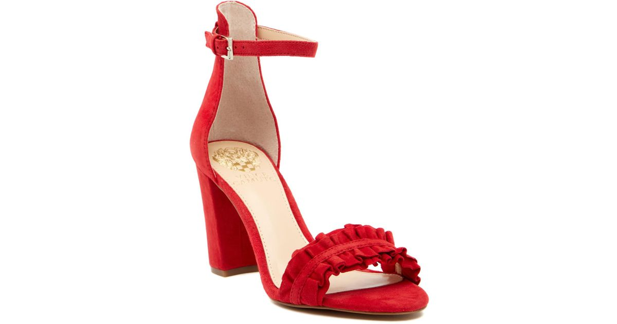 Vince Camuto Cralista Ankle Strap Suede Sandal i0Gul