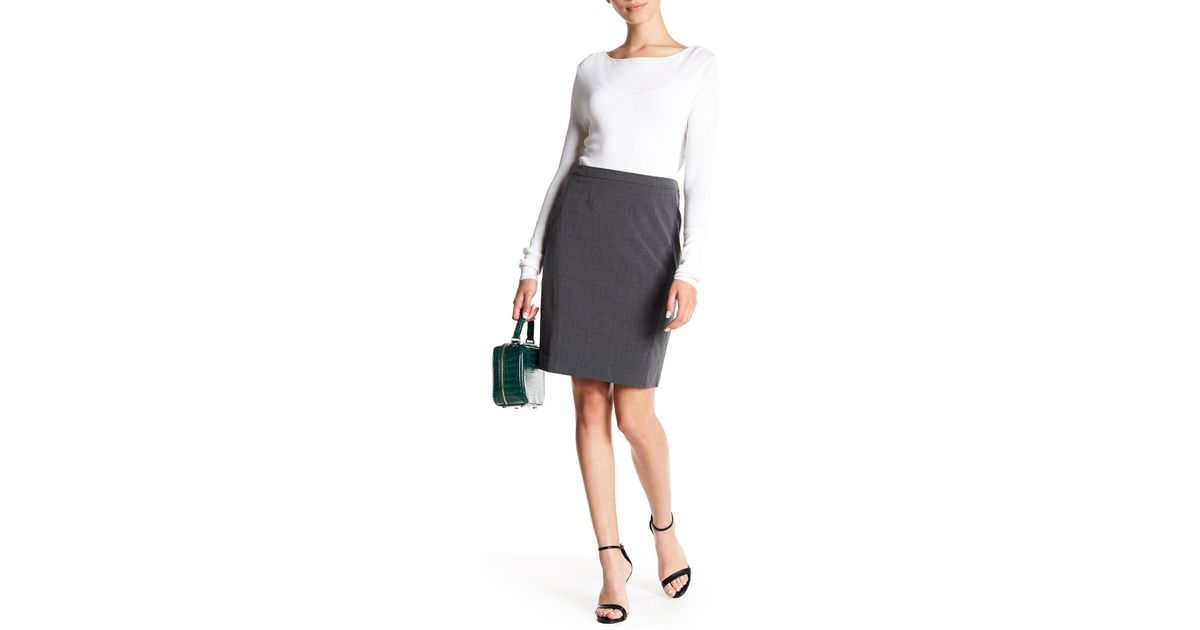 d4a4551368 Lyst - Halogen Ela Suit Skirt in Gray
